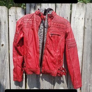 BKE Red leather jacket
